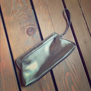 Gold/bronze clutch/wristlet